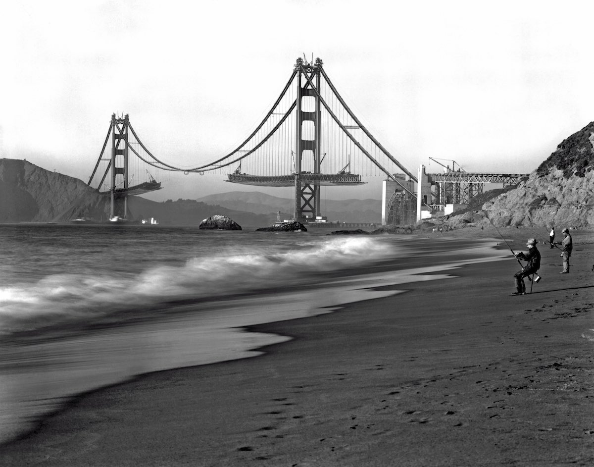 1936 - Vista dos pescadores na Baker Beach.